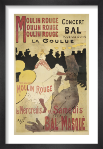 Moulin Rouge (small) by Henri de Toulouse-Lautrec