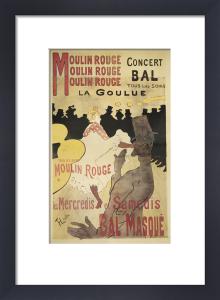 Moulin Rouge (small) by Henri de Toulouse-Lautrec