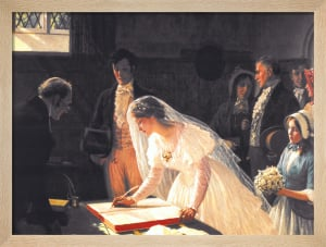 Signing the Register by Edmund Blair Leighton
