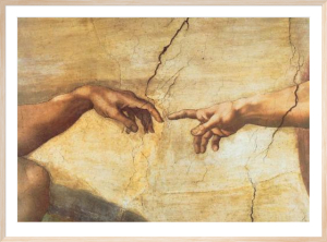 Creation of Adam (Detail - large) by Michelangelo