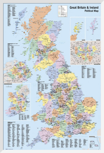 UK - Political Map by Anonymous