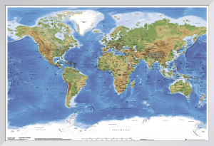 Planetary Visions - Physical map of the world by Anonymous