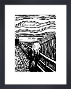 The Scream (b&w) by Edvard Munch