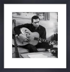 Johnny Cash - Man in black (Guitar) by Celebrity Image