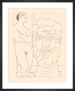 Modele et Grand Tete Sculptee, 1933 by Pablo Picasso