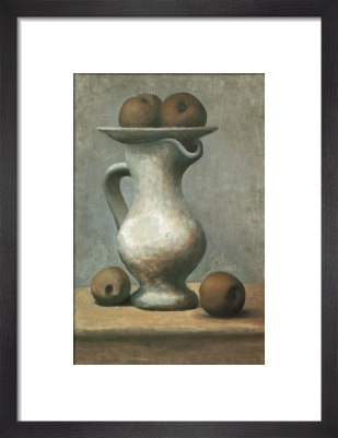 Still Life with Pitcher and Apples by Pablo Picasso