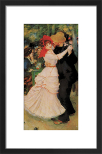 Dance at Bougival by Pierre Auguste Renoir