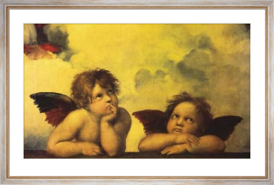 Cherubs (Detail from Sistine Madonna) by Raphael