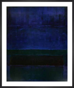 Blue, Green and Brown by Mark Rothko
