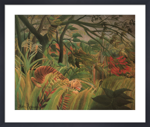 Tiger in a Storm by Henri Rousseau