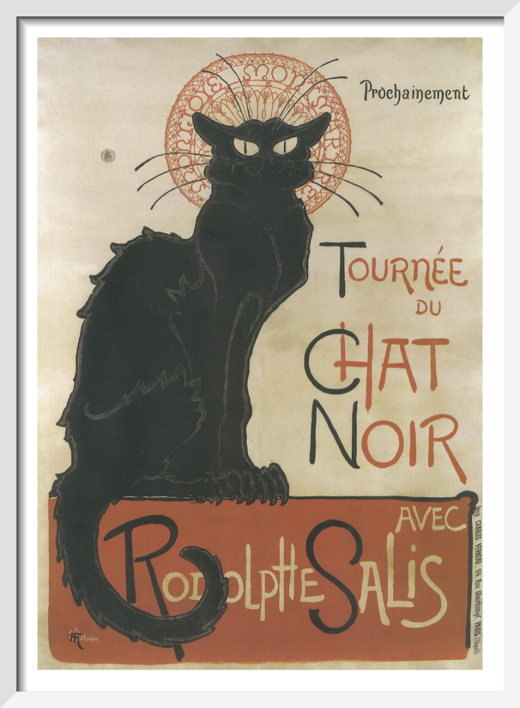 Tournee Du Chat Noir Art Print By Theophile Alexandre Steinlen King Mcgaw