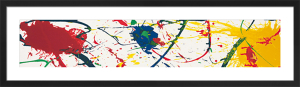No brush, 1987 (Silkscreen print) by Sam Francis