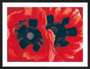 Oriental Poppies, 1928 (Silkscreen print) by Georgia O'Keeffe