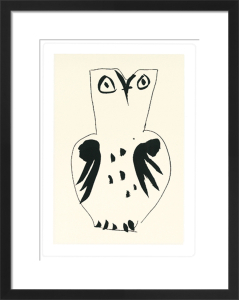 Chouette (Silkscreen print) by Pablo Picasso