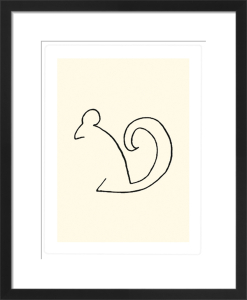 L'Ecureuil (Silkscreen print) by Pablo Picasso