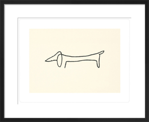 Le chien (Silkscreen print) by Pablo Picasso