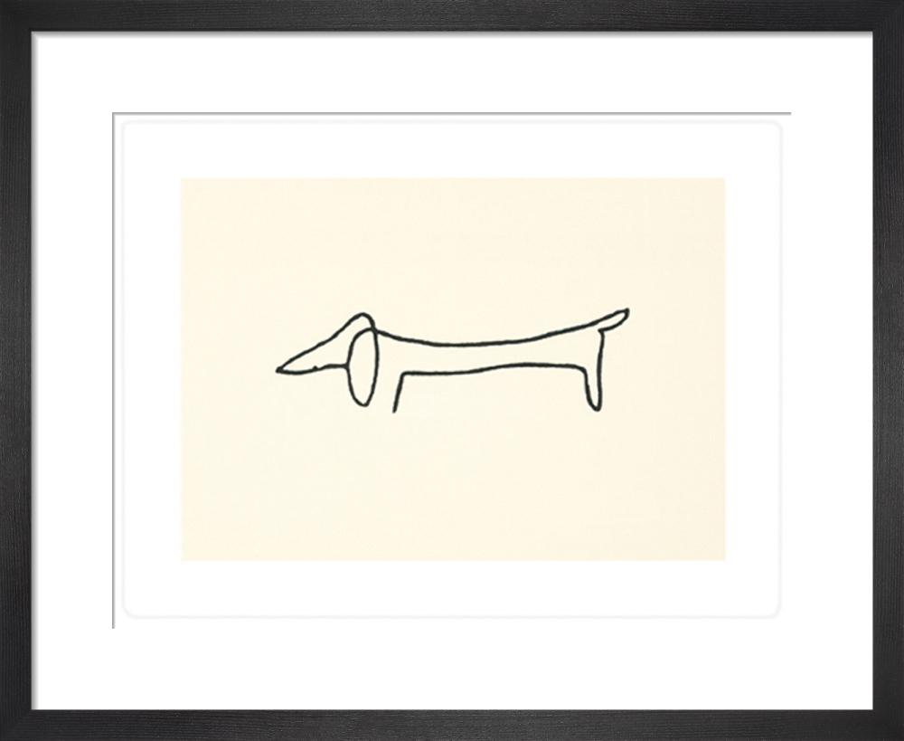 Le chien (Silkscreen print) by Pablo Picasso