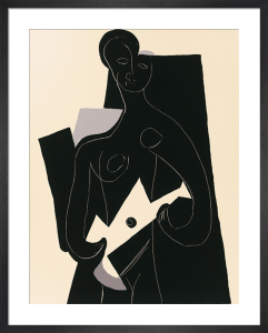 Femme a la guitare, 1924 (Silkscreen print) by Pablo Picasso