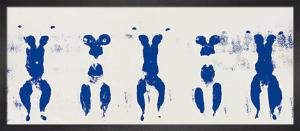 Anthropometrie. ohne Titel, ANT 100, 1960 (Silkscreen print) by Yves Klein