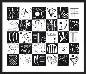 Thirty, 1937 (Silkscreen print) by Wassily Kandinsky