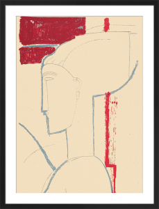 Testa scultorea (Silkscreen print) by Amedeo Modigliani