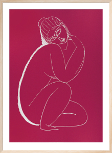 Seated Nude (Silkscreen print) by Amedeo Modigliani