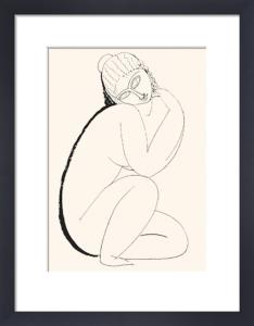 Seated Nude (Silkscreen print) by Amedeo Modigliani