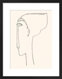 Profile Of A Head (Silkscreen print) by Amedeo Modigliani