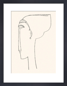 Profile Of A Head (Silkscreen print) by Amedeo Modigliani