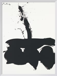 Samura N.1, 1974 (Silkscreen print) by Robert Motherwell