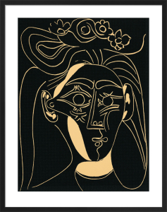 Woman With A Hat In Bloom, 1962 (Silkscreen print) by Pablo Picasso
