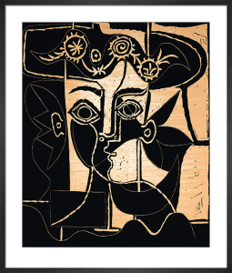 Woman With A Hat Of Orne (Silkscreen print) by Pablo Picasso