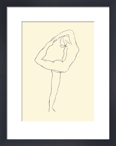 Dance Movement (Silkscreen print) by Auguste Rodin