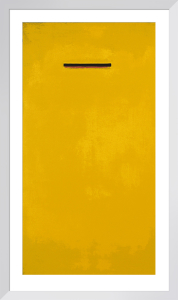 Untitled, yellow (Silkscreen print) by Jurgen Wegner