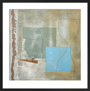 June 1961 (green goblet and blue square) by Ben Nicholson