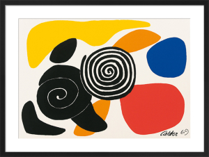 Spirals and Petals, 1969 (Silkscreen print) by Alexander Calder