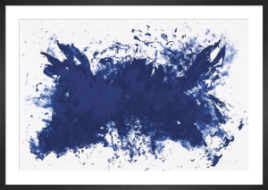 Hommage a Tennessee (Silkscreen print) by Yves Klein