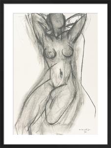 Nu dan un fauteuil, 1950 (Silkscreen print) by Henri Matisse