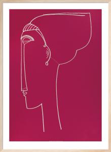 Testa die profilo, 1911 (Silkscreen print) by Amedeo Modigliani