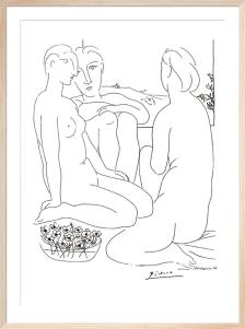 Trois femmes nues et une (Silkscreen print) by Pablo Picasso