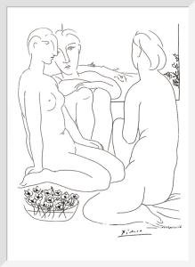 Trois femmes nues près d'une fenêtre (from Vollard suite), 1933 (Silkscreen print) by Pablo Picasso