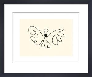 Le papillon (Silkscreen print) by Pablo Picasso
