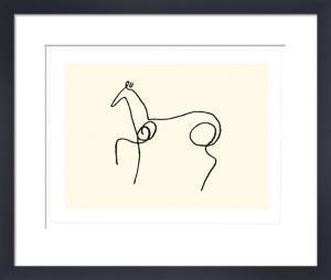 La cheval (Silkscreen print) by Pablo Picasso