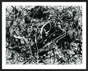 Number 33 (Silkscreen print) by Jackson Pollock