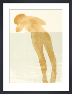 Reclinig female nude, 1900 (Silkscreen print) by Auguste Rodin