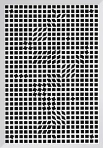 Tlinko, 1955 (Silkscreen print) by Victor Vasarely