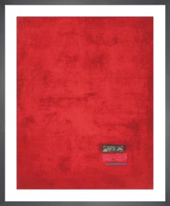 Untitled, 1991 (red) (Silkscreen print) by Jurgen Wegner