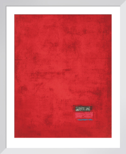 Untitled, 1991 (red) (Silkscreen print) by Jurgen Wegner