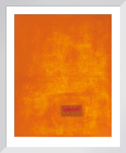 Untitled, 1991 (orange) (Silkscreen print) by Jurgen Wegner