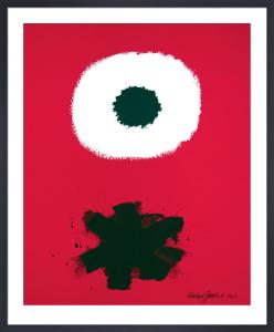 White disc - red ground, 1967 by Adolph Gottlieb